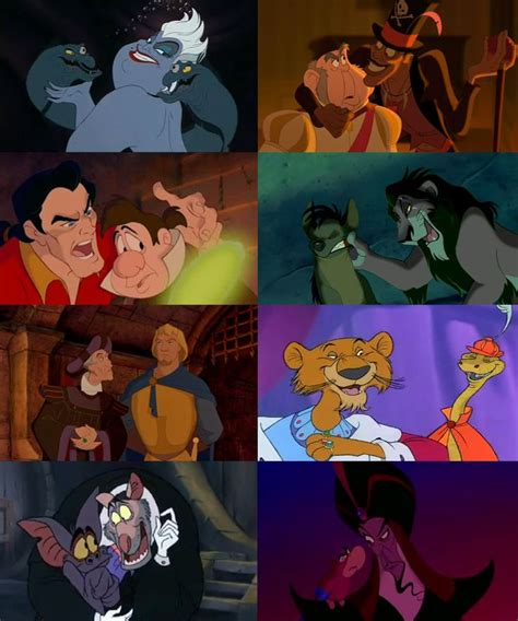 By Villain Sidekick disney villains and their sidekicks villains disney and disney villains