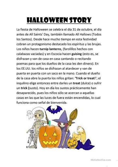 halloween storytime halloween story worksheet free esl printable worksheets made by teachers
