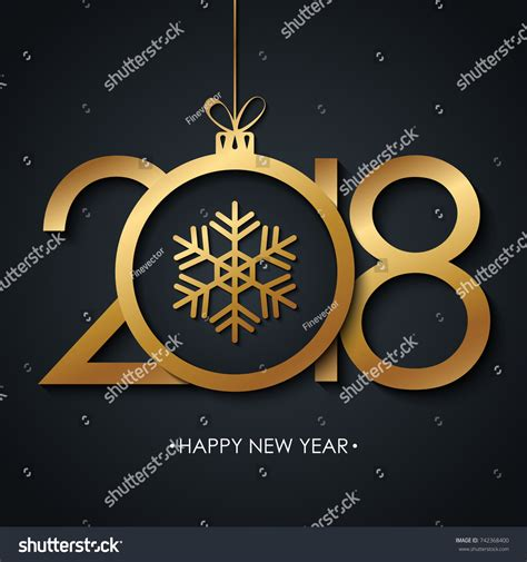 happy new year 2018 greeting card stock vector 2018 happy new year greeting card stock vector 742368400