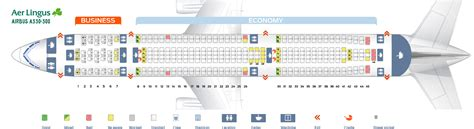 seat map airbus a330 300 aer lingus best seats in plane