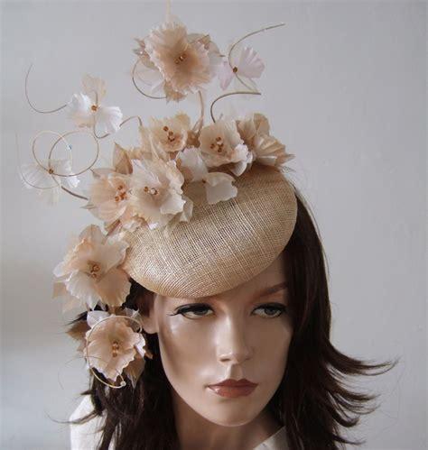 Handmade Headpieces - suspended silk flowers smartie fascinator