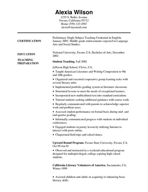 exle of early childhood educator resume resume