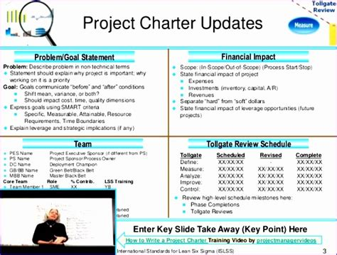 sigma project charter template excel cvvns awesome  pyzdek institute project charter