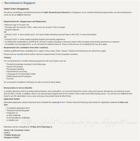 cabin crew application form singapore airlines cabin crew walk in