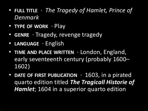 themes in hamlet ppt introduction to the play hamlet