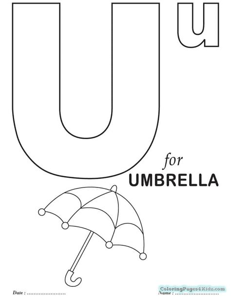 Letter U Coloring Page For Toddlers free printable letter u coloring pages free printable
