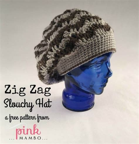 free pattern for zig zag hat cream of the crop crochet zig zag slouchy hat pink