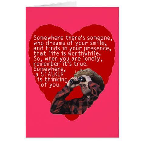 stalker valentines day cards zazzle