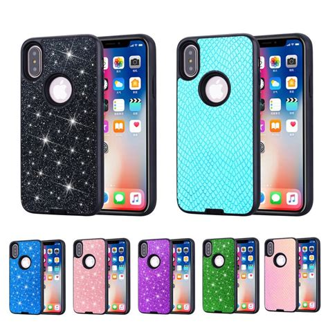 luxury bling phone etui for apple iphone xr hybrid coque iphone xs max 2 in 1