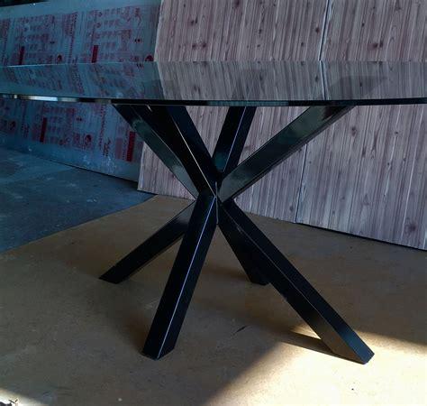 tavolo nero lucido tavolo in ferro verniciato nero lucido con top in vetro