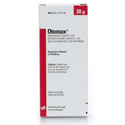 otomax for dogs otomax ointment ear infection medication petcarerx