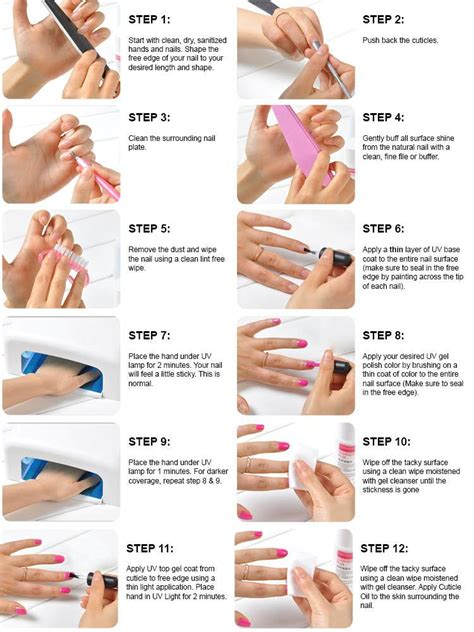 complete kit 10 soak uv nail gel curing