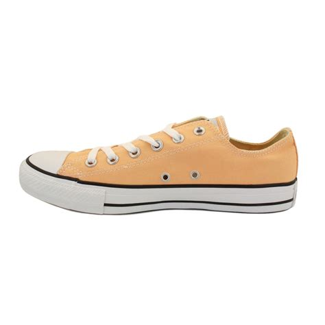 Converse All Peached Ox converse chuck all ox 136819c womens laced canvas trainers