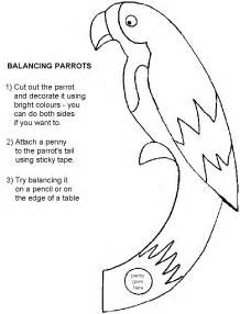 Parrot Template by Guiding Uk Crafts Balancing Parrot