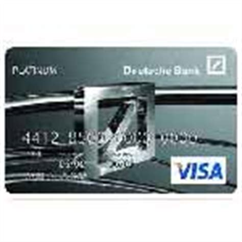 credit card deutsche bank deutsche bank platinum credit card