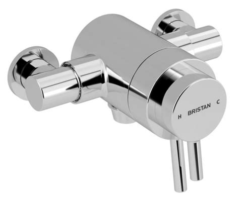 Bristan Bath Shower Mixer Thermostatic prism exposed concentric chrome shower valve uk bathrooms