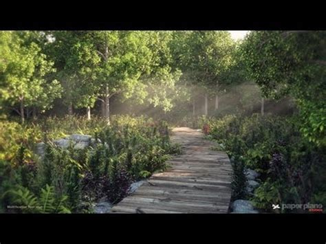 render forest 3dsmax environment creation making of forest path scene