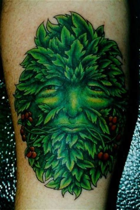 green man tattoo pin green lilzeu de on