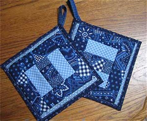 quilted pot holder pattern free quilt pattern