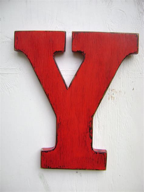 Nursery Decor Letters by Large Rustic Wood Letter Y Shabby Chic Vintage Country