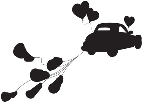 Wedding Clipart Just Married by Wedding Car Just Married Silhouette Png Clip Gallery