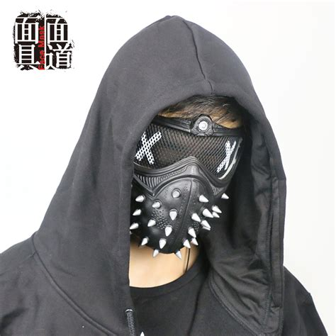 dogs 2 wrench mask dogs 2 dedsec aiden pearce wrench mask helmet eyepatch muffle