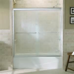 kohler k 702200 g54 fluence 58 5 16 frameless sliding bath
