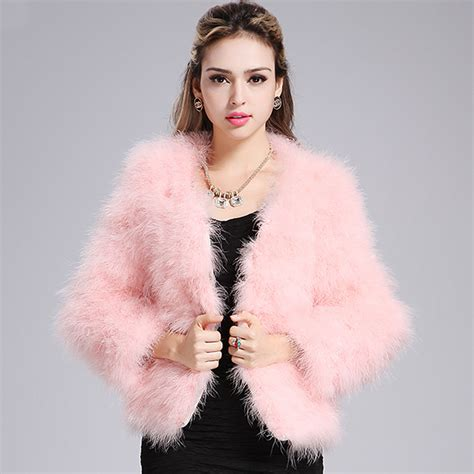 luxury ladies fur coats luxury womens real ostrich fur coat ladies turkey feather
