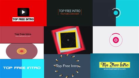 Top 10 Free 2d Intro Templates No Plugins After Effects Cs6 Cc Topfreeintro Com After Effects Intro Templates Free Cc