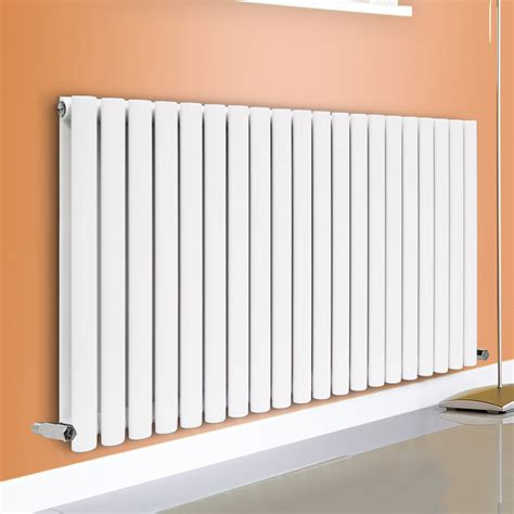 White Bathroom Radiator by Horizontal Vertical Designer Oval Column Panel Bathroom