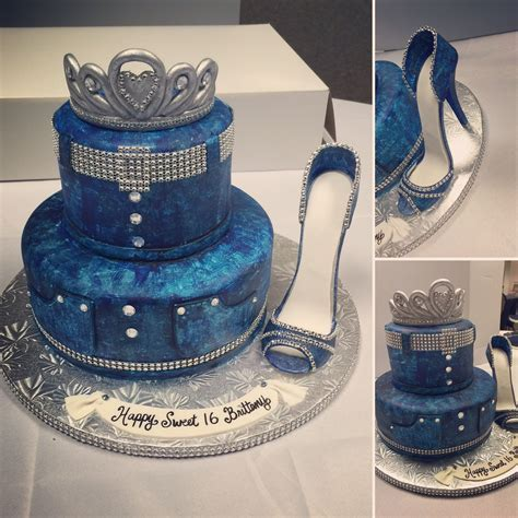Diamond and denim themed sweet 16 cake made by Kakes By