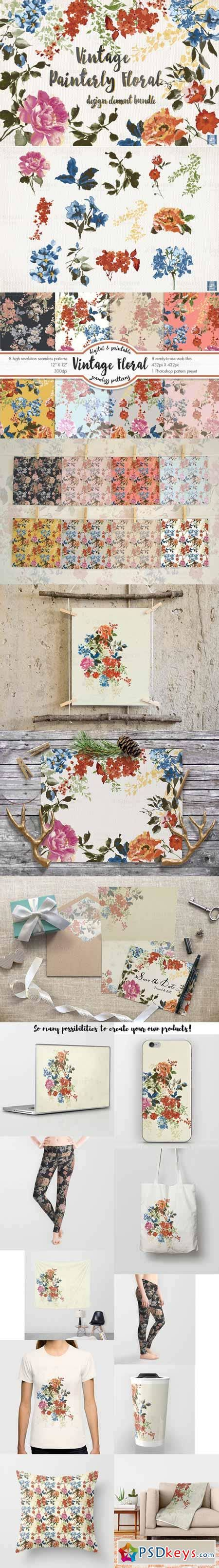 design elements bundle vintage floral design element bundle 479306 187 free