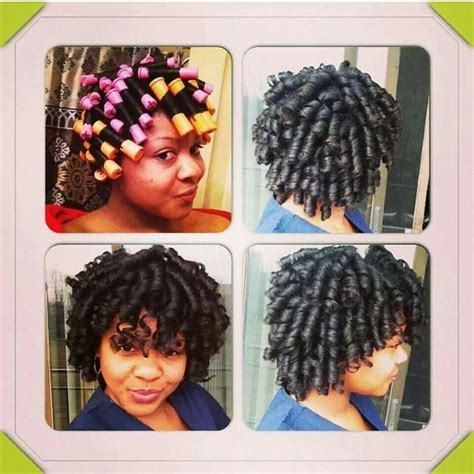 permanent wave 4c hair results perm rod set results hair pinterest perm rod set