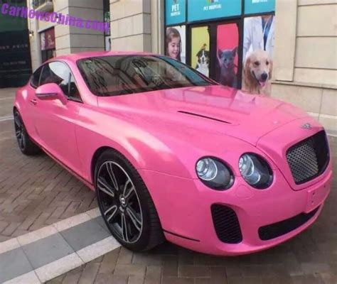 pink bentley is a pink bentley cute or a against car manity