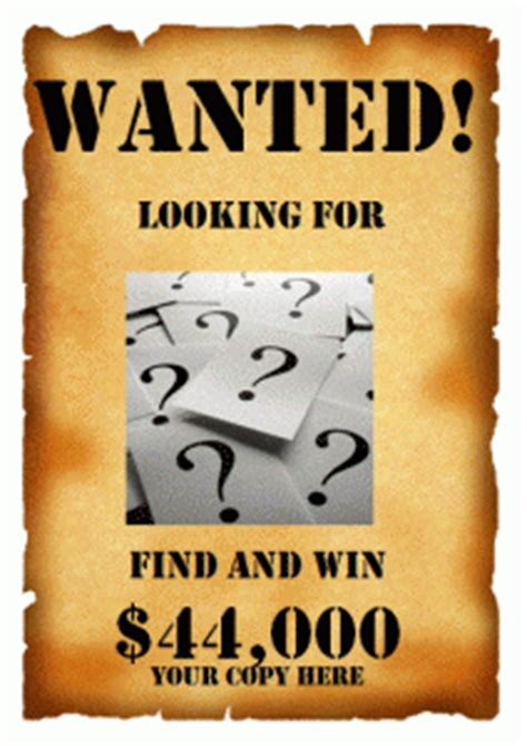Wanted Poster Template Poster Templates Ms Office Templates Powerpoint Wanted Poster Template
