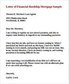 Financial Hardship Letter To Mortgage Lender Sle Financial Hardship Letter 9 Exles In Word Pdf