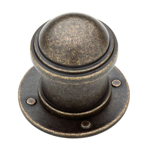 Liberty Cabinet Knobs by Liberty 1 1 2 In Burnished Antique Brass Industrial