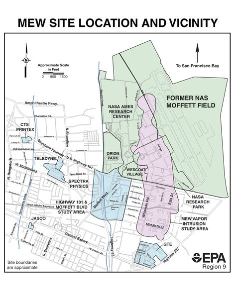 superfund map superfund site concerns at nasa ames nasa watch