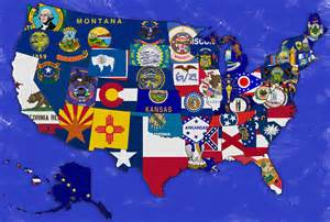 united states map with flag united states of america states capitals it all