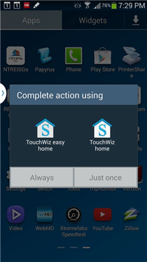home key complete using touchwiz easy home huh