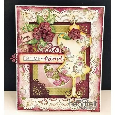 heartfelt creations floral fashionista collection floral fashionista cling stamp set
