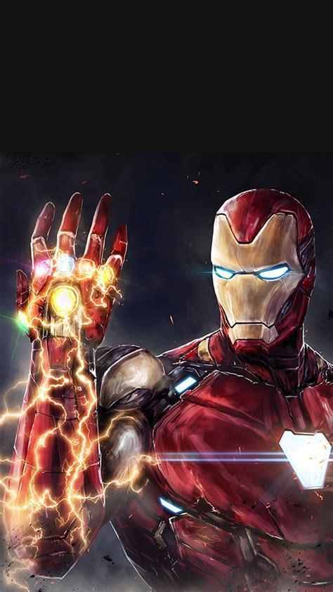 iron man snap infinity stones iphone wallpaper iphone