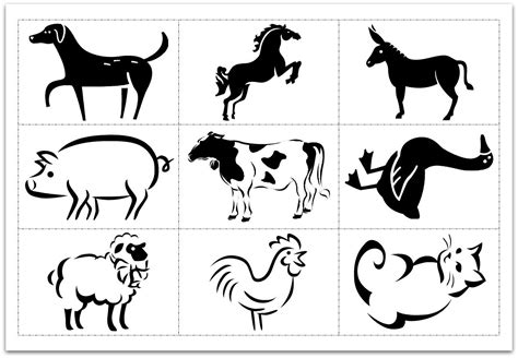 animal cards template clear make flash cards using ms word