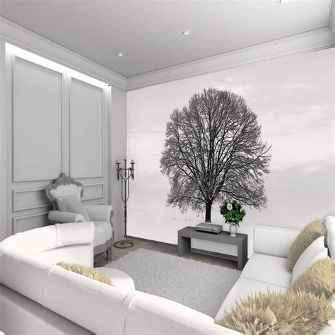 designing a wall mural black and white tree wall mural design decoration for