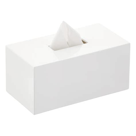 lacquer rectangular tissue box cover the container store