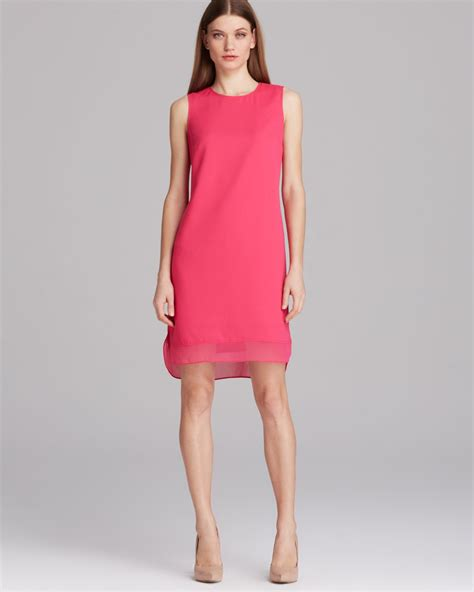 sleeveless organza dress vince camuto sleeveless organza trim dress in pink