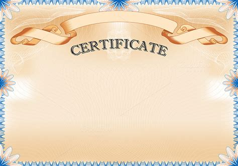 landscape certificate templates vintage certificate with ribbon stationery templates on