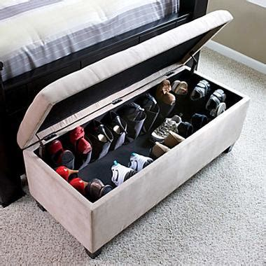 bed shoes storage secret hideaway shoe storage in a chest at the foot of
