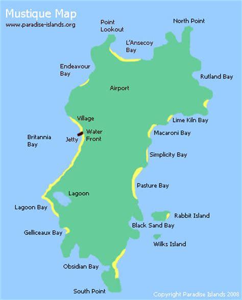 mustique island mustique map map of mustique island