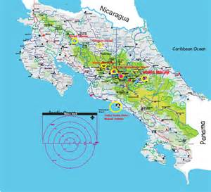 detailed road map of costa rica costa rica adventures mapa